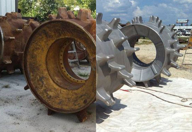 before and after of dustless blasting